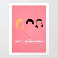 the royal tenenbaums Art Prints featuring The Royal Tenenbaums by Chay Lazaro