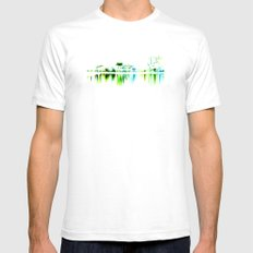 white harbor II. SMALL White Mens Fitted Tee