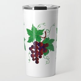 Purple Grapes on vine Travel Mug