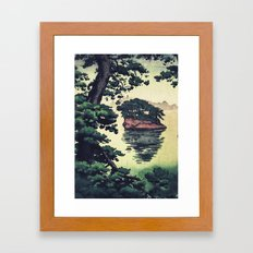 Autumn Rain in Yama Framed Art Print
