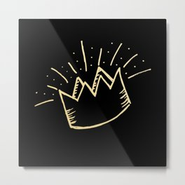 proud crown (gold/black) Metal Print