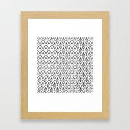Hand Drawn Hypercube Framed Art Print