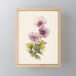 Geranium & Gardenmint Framed Mini Art Print