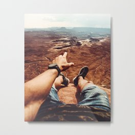 on top of canyonalnds Metal Print