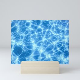 Swimming Pool water, Ripple Water, Sun Reflection Mini Art Print