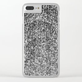 The Lights (Black and White) Clear iPhone Case