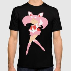 Sailor Chibi Moon (Pink) Mens Fitted Tee Black MEDIUM