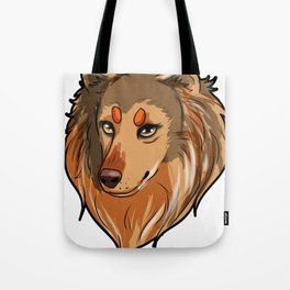Collie Dog Puppy funny Present Tote Bag