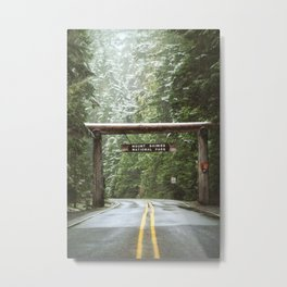 Sign, Mt. Rainier Metal Print