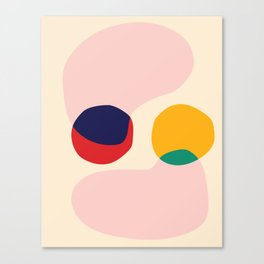 happy shapes Canvas Print