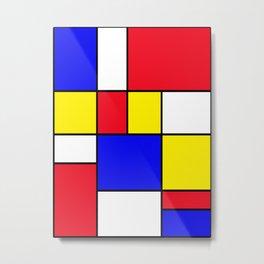 Mondrian No. 16 Metal Print