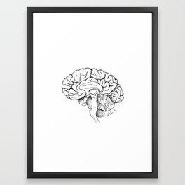 Brain in Ink Framed Art Print