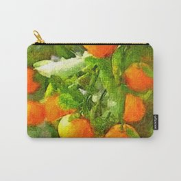 TROPICAL ORANGE TREE PAINTING Carry-All Pouch