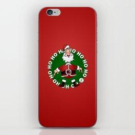 Sants Claus laughing: Ho Ho Ho iPhone Skin