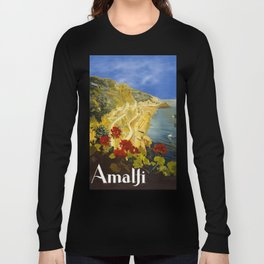 Vintage Amalfi Italy Travel Long Sleeve T-shirt