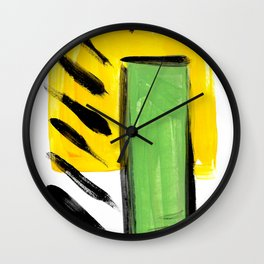 Bright geometric abstract Wall Clock