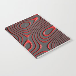 Organic Abstract 01 RED Notebook