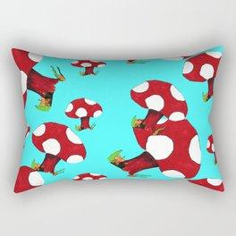 Little Red Mushroom Rectangular Pillow