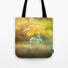 Joyful Yellow Tote Bag