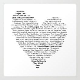 Beautiful Angels' Heart Art Print