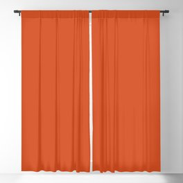 Simply Orange Solid Color Blackout Curtain