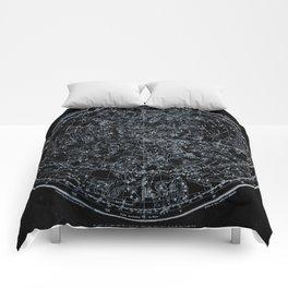 Northern Hemisphere Constellations White Blue Comforters