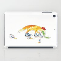 drunk iPad Cases featuring Drunk Fox by Jesse Robinson Williams