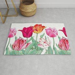 Tulips Garden Rug