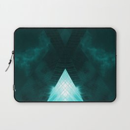 Turquoise skyscraper mill V WH Laptop Sleeve