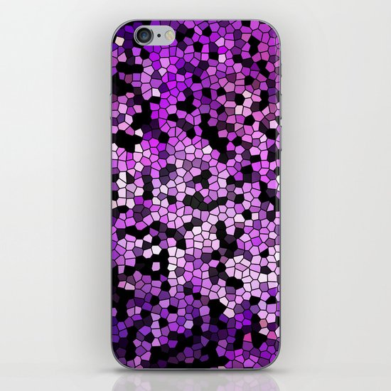 STAINED GLASS PURPLES iPhone Skin