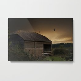 Spitfire Sunset Metal Print