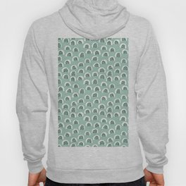 Minty Melon love abstract brush paint strokes yellow ochre Hoody