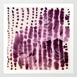 paper and roses Art Print