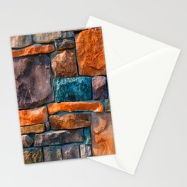 Colored Stone Wall Stationery Cards