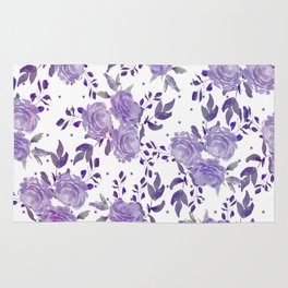Bouquet of Purple Roses Rug