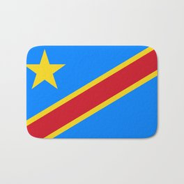 National flag of the Democratic Republic of the Congo, Authentic version (to scale and color) Bath Mat