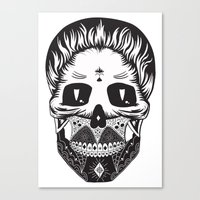 calavera Canvas Prints featuring Calavera by Sofia Bolona