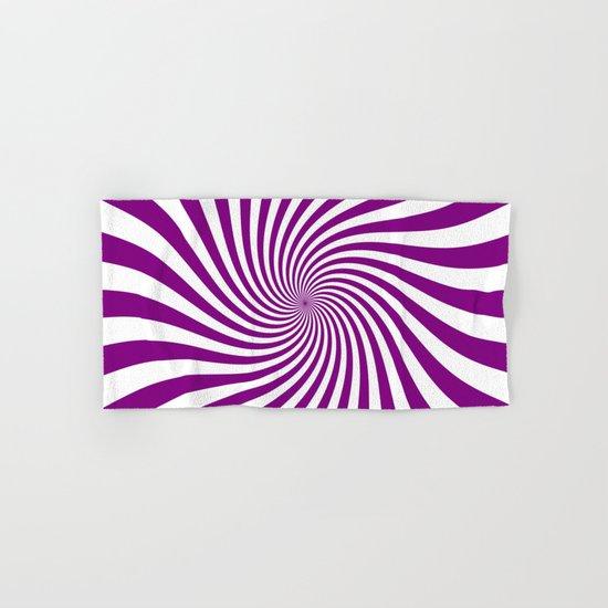 Swirl (Purple/White) Hand & Bath Towel