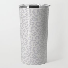 Snow Leopard Print Travel Mug