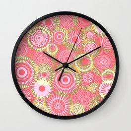 Kooky kaleidoscope Coral Wall Clock