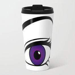 Violet Left Eye Travel Mug