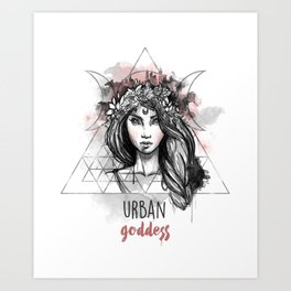 Urban Goddess Art Print