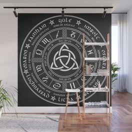 Triquetra Pagan Wheel Of The Year Wall Mural