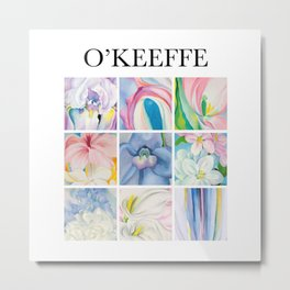 O'Keeffe - Collage Metal Print