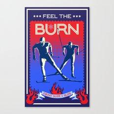 Feel the burn x country ski Canvas Print