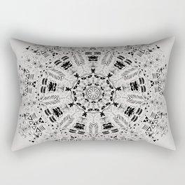 Floral Mandala Rectangular Pillow