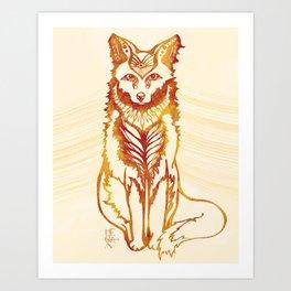 Ethereal Fox Art Print