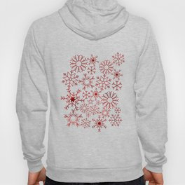 Red and gold snowflakes Hoody