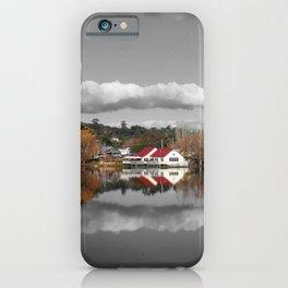 Lake Daylesford Winter Reflections iPhone Case