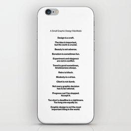 A Small Graphic Design Manifesto iPhone Skin